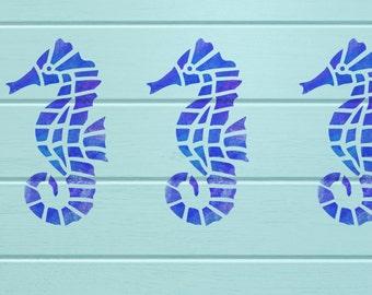 Seahorse Stencil -  A4 Reuseable Craft Home Decor Stencil