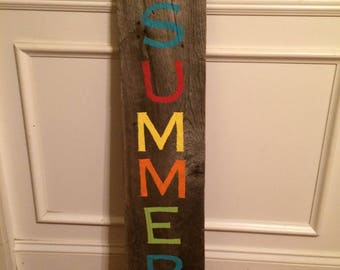 Rustic Sweet Summer Time Sign, Porch Sign