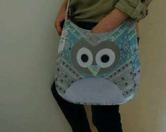 Owl messenger bag, unique handmade and great gift!