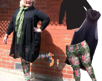 Saturday Outfit Combo with Free Shipping flamingo leggings marilyn shirt triangle sheer black tunic