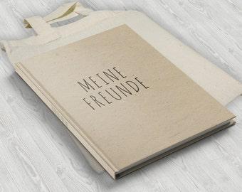 "Friend book ""My friends"" including cotton bag"