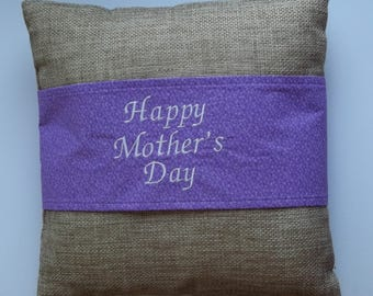 Happy Mother's Day - Purple Decorative Pillow Sleeve/Wrap