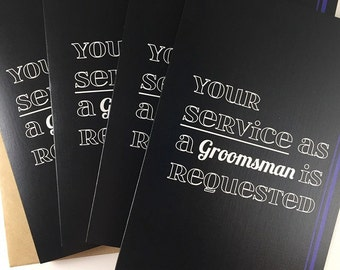 Will You Be My Groomsman/Best Man? Groomsman Card. Best Man Card. Wedding Party Card.