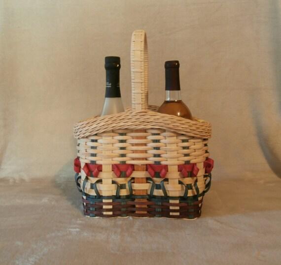 Basket Weaving Kits : Basket weaving kit wine with flowers from
