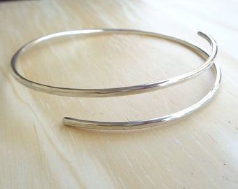 Sterling Silver 925 Bangles, adjustable  Bracelets,Arm cuff,Silver Arm Cuff,arm band,Boho arm cuff,Gift for her,