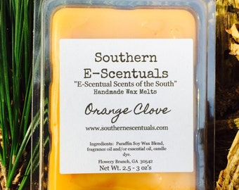 Orange Clove, Soy Wax Melt, Wax Tarts, Breakaway Wax Cubes, Wickless Candle, Wax Melts, Stocking Stuffers, Gifts under 5, Holiday Scents