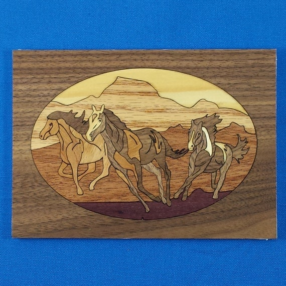 "Marquetry Project Kit - 5""x 7"" Mustangs"