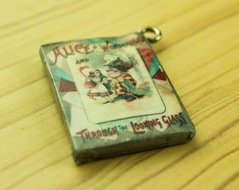 Through the Looking Glass - Alice in Wonderland Charm - Queen of Hearts - Wonderland Decor - Alice Party Supplies - Tea Party