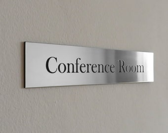 Executive Personalised Wall Name Plate Custom Engraved Sign - Conference room door signs for offices