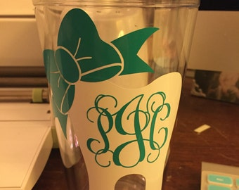 Monogramed Clear Classic Tumbler * Sale BOGO 50% off!!*
