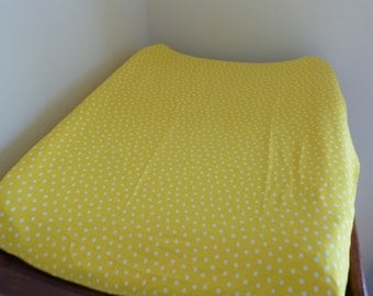 Changemat Cover- Yellow with white spots