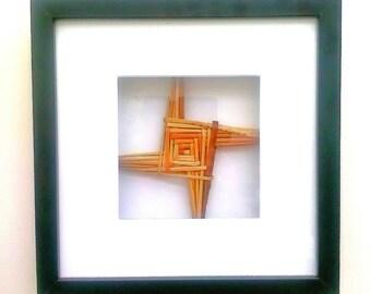 Made in Ireland St Brigid's Cross in Frame