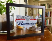 Custom Budweiser United States of America Unique Hand Cut Beer Can Art in a Floating Frame- Perfect for your Bar or Man Cave!