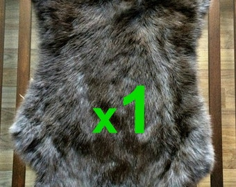 BROWN Rabbit Skin Fur Pelt Tanned for; dummy, animal training, crafts, fashion, clothing, accessories