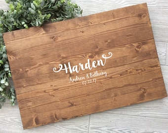 Rustic Wedding Guest Book Alternative, Wood Sign Names Guest Book Alternative, Rustic Chic Wood Wedding Sign,