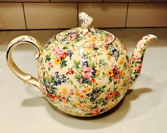 "Royal Winton Chintz ""Floral Feast"" Teapot"