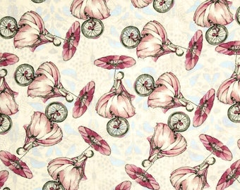 Riddles & Rhymes  Unicycles   Cotton Quilt Fabric Tina Givens For Free Spirit     By the Yard