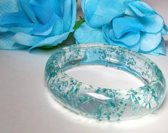Blue Blooms Butterfly Bangle