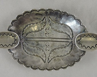 Antique Silver Ash Tray Navajo Indian Hand Made for Fred Harvey