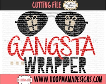 Gangsta Wrapper SVG DXF eps and png Files for Cutting Machines Cameo or Cricut Christmas Boy SVG