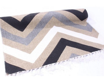 Carpet rug cotton ZIGZAG