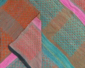 Peruvian Rug // Frazada  // wool rug // handwoven rug //