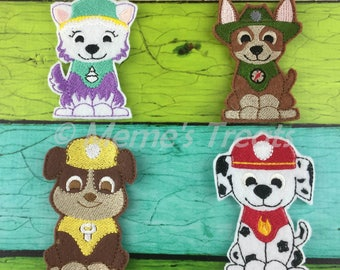 Set of 9 Finger Puppets - Inspired by puppy patrol children's show