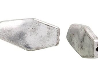 5 Pcs 24x12 mm Zinc Alloy Hexagonal Shaped Beads (PUT4001035)