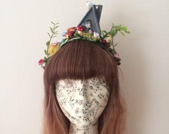 Birdhouse garden lolita mori headdress