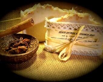 Handmade soap - Natural Oatmeal Cinnamon & Honey