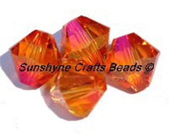 Swarovski Crystal Beads 5328 CRYSTAL ASTRAL PINK Xilion Faceted Bicone Beads - Sizes 4mm & 6mm available
