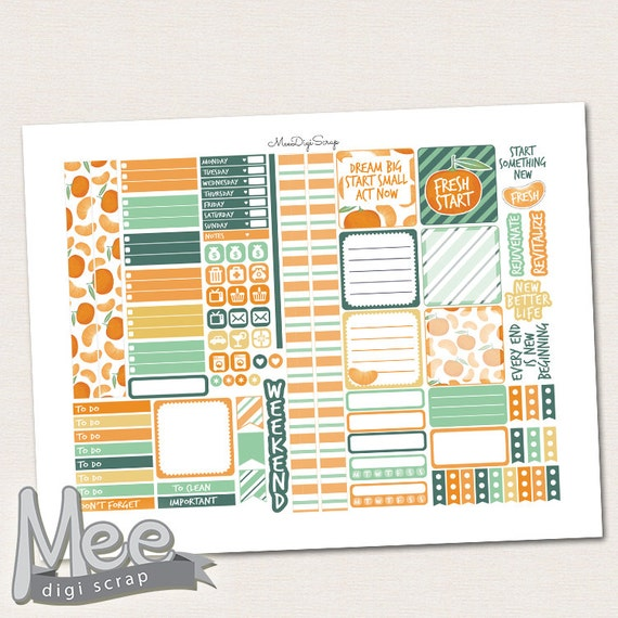 Printable planner stickers for use in mini Happy