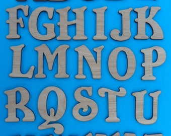Oak Letters 2 mm, Ideal for crafting, box making etc available in 4 cm  and 9cm