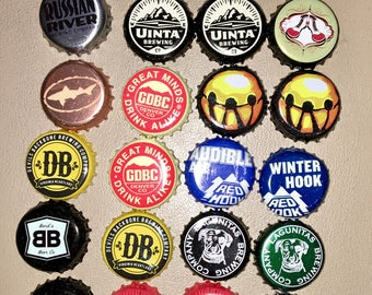 Lot of 24 Craft Beer Bottle Caps