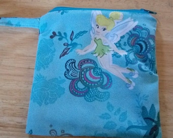 Ladies NEW Wrist Pouch Bag Purse Wristlet Pocketbook TINKER BELL Print P129