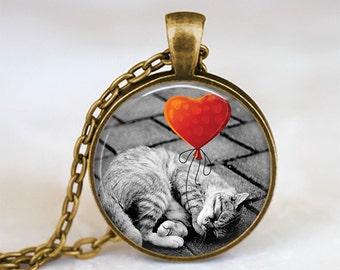 Cat Love - Nature Animal Handmade Pendant Necklace