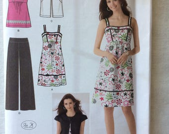 Simplicity 2373 UNCUT New Misses Size 6, 8, 10, 12, 14 Pants, Dress or Top, and Jacket Pattern