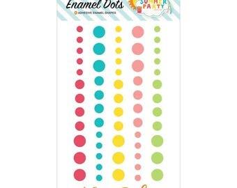 SALE - Echo Park Summer Party Enamel Dots