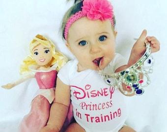 Disney Inspired Onesie, Baby Girl Onesie, Baby Girl Clothing, Bodysuit For Baby Girl