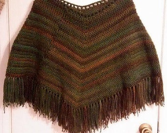 Gorgeous Handmade Crochet Super Soft and Thick Luxury Poncho One Size Fits ALL!