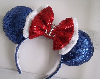 "Super Sparkle Sequin ""Disney Cruise"" Custom Mouse Ears inspired by Disney"
