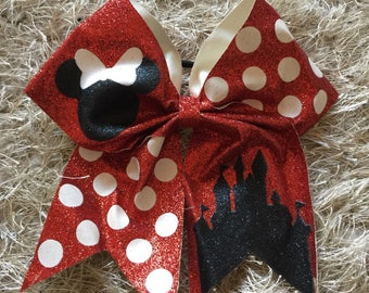Large Minnie Mouse Inspired Cheer Dance Hair Bows