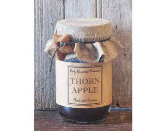 Primitive Candle, Country Candle, Rustic Candle, Thorn Apple Scented Jar Candle