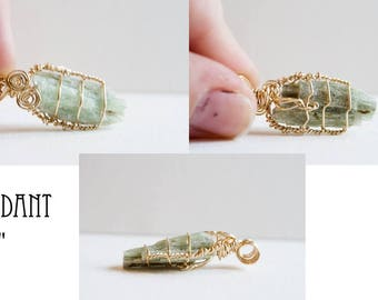 Green Kyanite Pendant