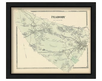 Town of Peabody 1872 Map