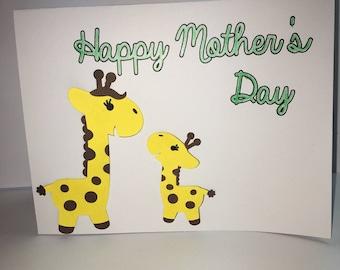 Giraffe Mother's Day Card