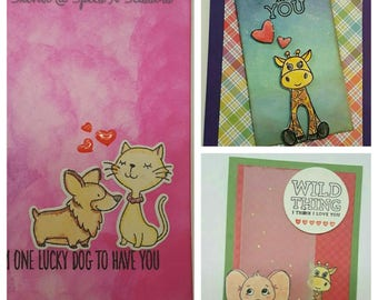 Pack of 3 cards - Express adorable love