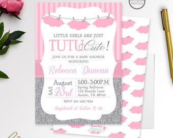 tutu baby shower invitation girl baby shower invitations ballerina baby shower invitations tutu