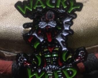 Wacky weed hat pin