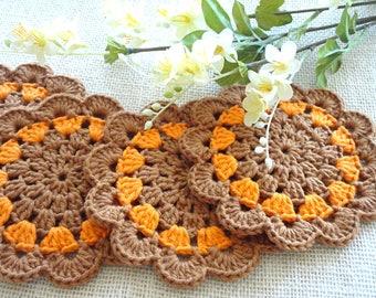 Crochet Coasters Placemat Table linens Crochet Doilies Tablecloth Crochet Doily Round Cotton Table Home Decor Crochet Coaster